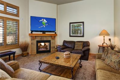 Living Room - Enjoy the large flat screen TV for family movie nights.