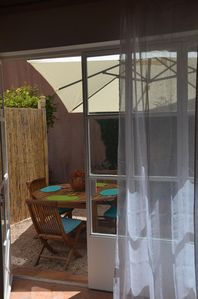 Photo for BETWEEN THE BEACHES OF PAMPELONNE-ST TROPEZ, RAMATUELLE, easy access Garden apartment