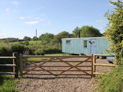 Photo for THE SHEPHERDESS HUT, romantic, with open fire in Lydford, Ref 975860