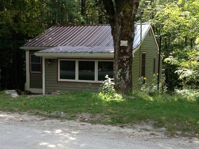 Photo for Cute cabin located in the quiet NH woods is a pet friendly home