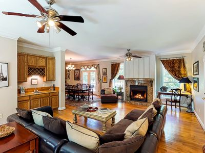 Photo for Waterfront home on an acre w/ a full kitchen, wet bar,  and deck!