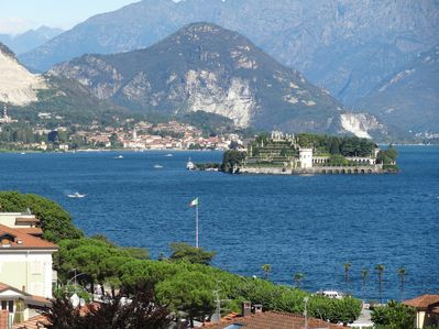 View from the apartment over Lake Maggiore and Isola Bella
