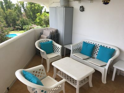 Photo for 2 Bed garden apartment with Air Con/Wifi