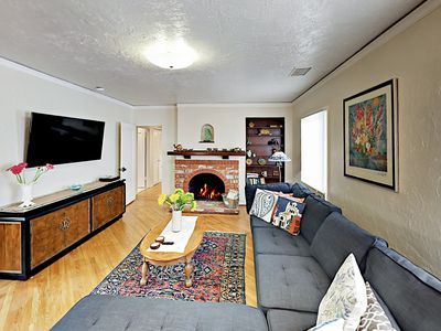 """Photo for Walk to Downtown! """"The Avenue"""" 3BR w/ Private Deck & Peeks of Ocean Views"""