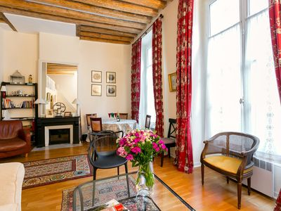 Photo for Amazing apartment with loft & tons of charm  by The Louvre & Tuileries Garden!