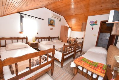 Apartment is equipped with one double and two single beds