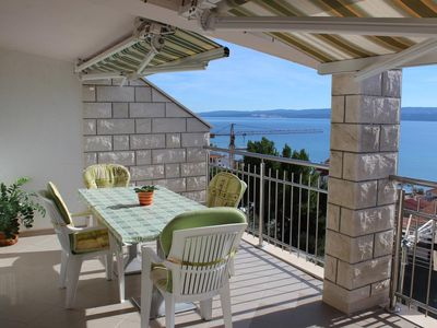 Photo for Two bedroom apartment with terrace and sea view Duće, Omiš (A-2737-c)