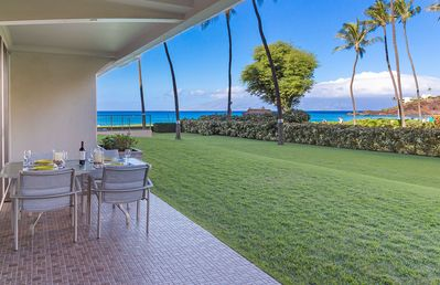 Photo for Maui Resort Rentals: The Whaler 108 - Luxurious Ground Floor w/ Ocean AND Black Rock Views!