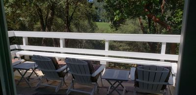 Living room deck, vineyard views, great for morning coffee or evening cocktails!