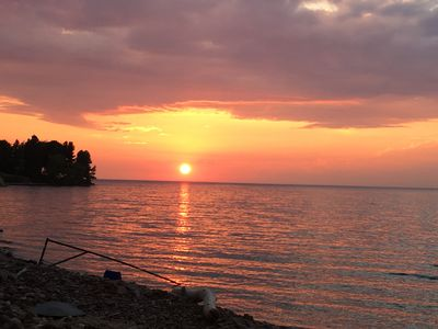 Photo for Lake Ontario, Sodus. Amazing Sunsets!  Newly updated, water access, rock beach.
