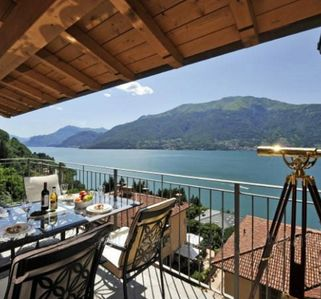 Photo for Penthouse Apartment on Lake Como with Gorgeous Lake & Mountain Views