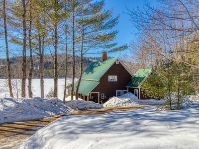 Photo for Dog-friendly lakefront cabin w/ sunset views  & firepit - private & near town!