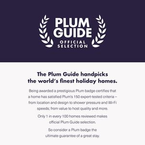 Our apartment is an official Plum Guide selection