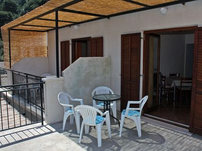 Photo for One bedroom apartment with terrace Cove Saplunara, Mljet (A-4923-b)