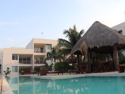 Photo for Beach condo Progreso (ground floor).