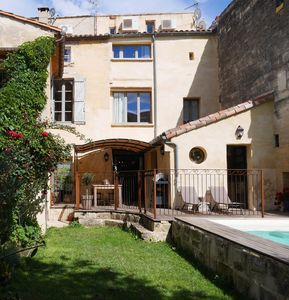 Photo for Early 1800's Stone Townhouse In The Historic Village Of Uzes + Pool And Garden