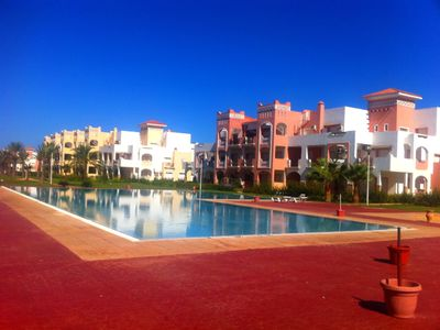 Photo for 329. Apartment 120 m² Wifi and Air conditioning for 6 people MAXI at the SAIDIA marina