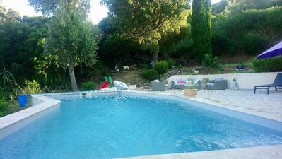 Photo for Charming villa with pool and sea in CavalaireS / Var sea