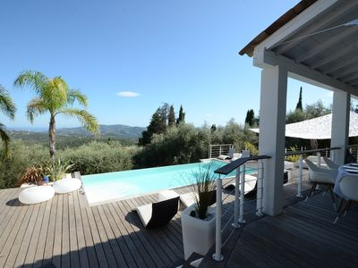 Photo for ARCHITECT VILLA - EXCEPTIONAL VIEW - SEA AND MOUNTAIN - NOT OVERLOOKED