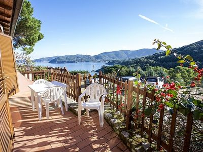 """Photo for Two- room apartment with beautiful sea view near to the beach of """"La Paolina"""""""