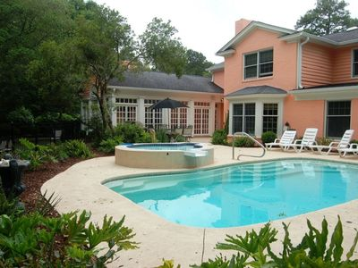 Photo for Private Saltwater Pool w/saltwater spa**sleeps 10**Family & Pet Friendly