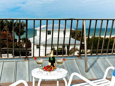 Photo for Steps to the private beach access , waterview from the porch and rooftop, private pool, WiFi/Cable