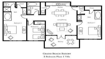 Photo for 3 Bedroom at Grand Beach Resort in Orlando