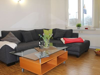Photo for Bright and large apartment, 6km to the Baltic Sea