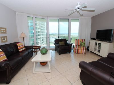 Photo for Caribe B809- Westerly Bay View,Large Terrace, Lazy River, Pool Slides!
