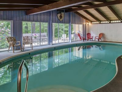 Photo for Imagine Floating in Our Heated INDOOR Pool then Relaxing in our Toasty Sauna Too
