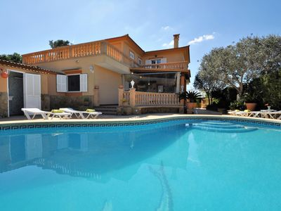 Photo for VILLA ISABEL -Villa with Pool in Tolleric Mallorca Sea views and Aircon. - Free Wifi