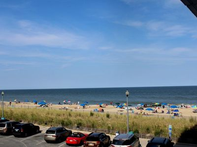 Photo for LINENS & DAILY ACTIVITIES INCLUDED*! OCEANFRONT/BOARDWALK BUILDING/ROOFTOP POOL