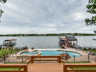 Photo for Beautiful 5BR/4BA Waterfront Lake House with Heated Pool & Large Open Deck