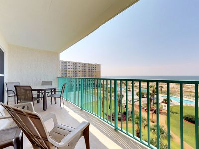 Photo for NEW! Waterfront condo w/shared pool & hot tub! Snowbird and family friendly!