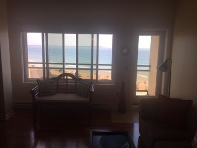 Photo for OceanFront 2BR Modern Condo w Balcony, Pool, Parking, Steps to Pier/Downtow
