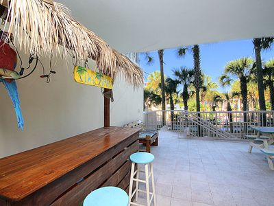 Your Own Private Tiki Bar On Your Huge Split Level Patio.