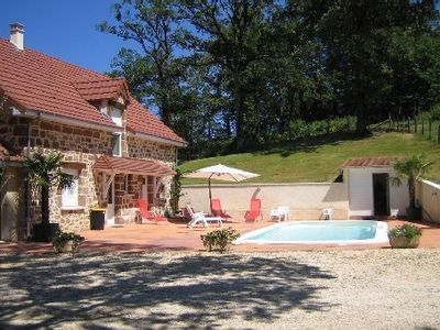 Photo for Large house for rent with pool in Correze
