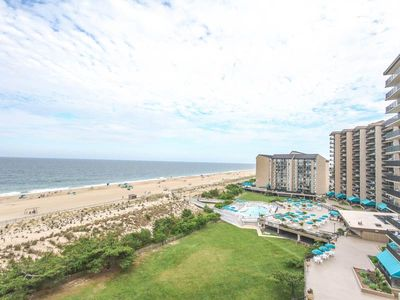 Photo for D806: 2BR Sea Colony Oceanfront Condo | Private Beach, Pools, Tennis ...