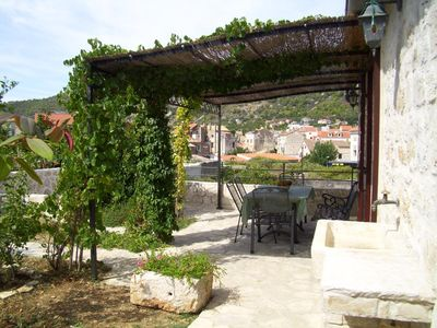 Photo for Two bedroom apartment with terrace Komiža, Vis (A-9247-a)