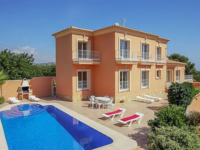 Photo for 8 bedroom Villa, sleeps 20 with Air Con, FREE WiFi and Walk to Beach & Shops