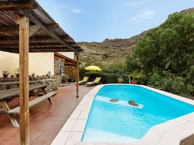 Photo for Villa with private pool in a valley under the sun and palms