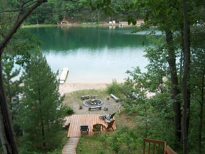 Photo for Little Bear Beach Cottage - Rustic A-Frame and clear lake!