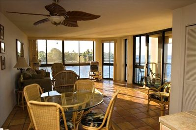 Morning in Kuhio Shores 309. Coffee on the lanai anyone? Watch for whales.