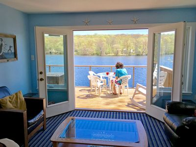 Cottage on the Lake with Beautiful Views from Two Decks, near Mystic & Foxwoods