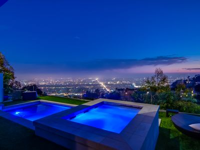 Photo for 2 Bedroom Modern Hollywood Hills Home with Jetliner City Lights Views and Pool