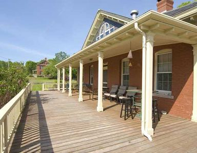 Your spacious front deck.