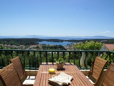 Photo for Beautiful apartment on Rab island with breathtaking views and beach 800 m.