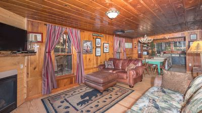 """Photo for Upper Canyon Lodging Co - """"Sprucewood"""" - A true Ruidoso Cabin with Hot Tub & Fireplace"""