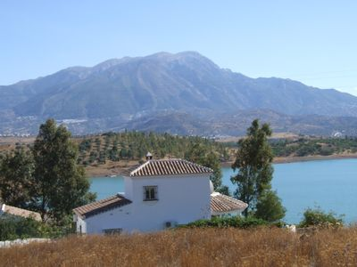 Photo for 3 bedroom, lakeside villa with private pool, lake Vinuela