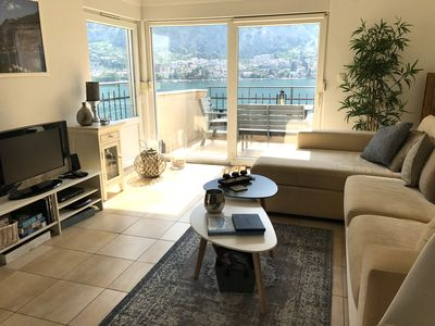 Photo for Beautiful penthouse apartment with best views over Kotor Bay and a pool